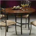 Pastel Minson Atrium Metal & Wood Round Table - Item Number: AT510+466
