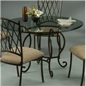Pastel Minson Atrium Glass Top Pedestal Table - Item Number: AT514+4819