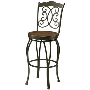 Barstool Collection Bar Stool with Wood Seat by Pastel Minson
