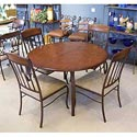 "Pastel Minson Monterey 48"" Round Table and 4 Metal Side Chairs - Item Number: BV540-1+MO-110x4"