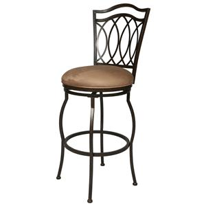 "Pastel Minson Iron Barstools West Port 26"" Swivel Barstool"