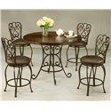 Pastel Minson Magnolia 5 Piece Table & Chair Set - Item Number: MA-520+471+4x225-AR-649