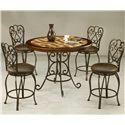 Pastel Minson Magnolia 5 Piece Table & Chair Set - Item Number: MA-520+478+4x225-AR-649