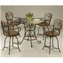 Pastel Minson Magnolia 5 Piece Dining Set - Item Number: MA-520+4819+4x217-AR-649