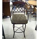 "Pastel Minson Napa Ridge 30"" Swivel Barstool with Fabric Seat - Item Number: NR219-30-1"
