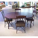Pastel Minson Napa Ridge Oval Table and 4 Metal Side Chairs - NR540-547+110x4-SOK