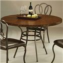 Pastel Minson Oxford 5 Piece Table & Chair Set - WT 510+809+4xOX-110-RB-656 - Round Hammered Metal Top Table