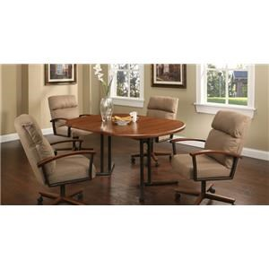 Pastel Minson Westminister 5 Piece Caster Dining Set