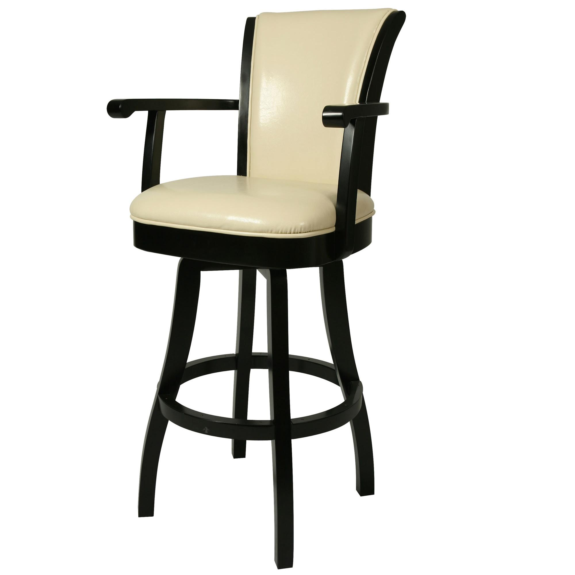 Pastel Minson Wood Barstools Glenwood Swivel Barstool with Arms in Cream Leather AHFA Bar Stool Dealer Locator
