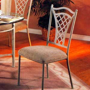 Lattice Back Metal Side Chair