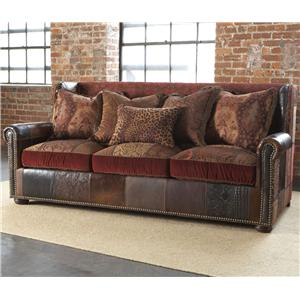 Claybourne  Traditional Styled Couch with Rolled Arms and Pillow Back by Paul Robert