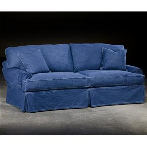 Paul Robert Dean Casual Couch With Rounded Arms And Comfortable Seat