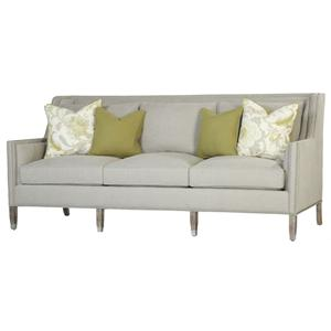 Dora  Contemporary Sofa with Thin Track Arms and Nail Head Trim by Paul Robert