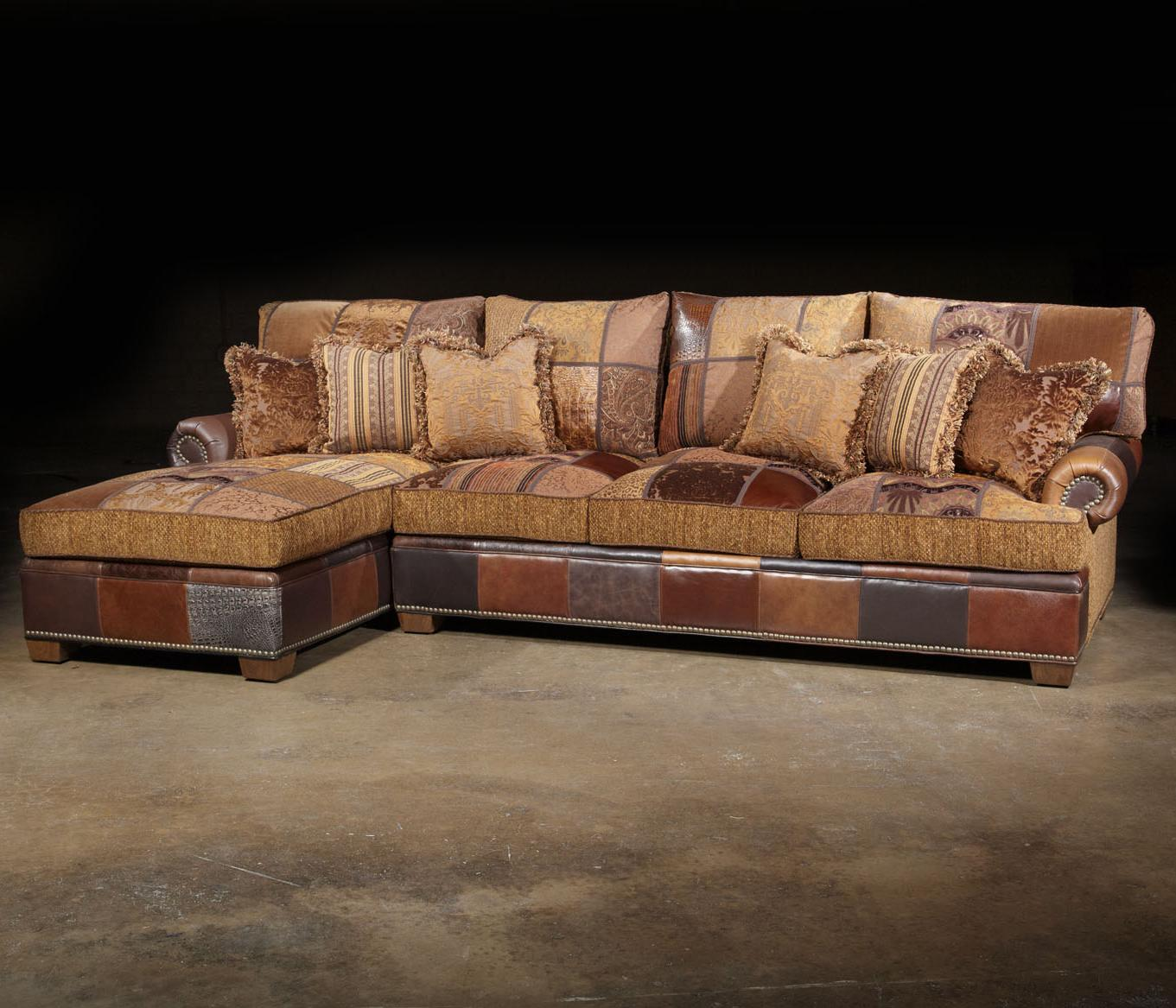 Beautiful Choices Patched Western Sectional Sofa In Traditional Furniture Style By Paul  Robert