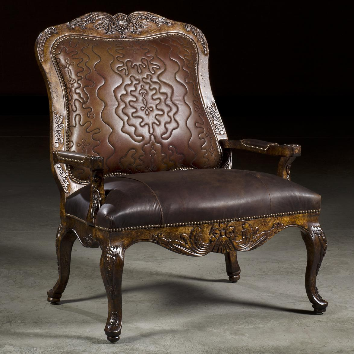 Savannah Traditional Styled Accent Chair With Exposed Wood Frame And  Elegant Carved Details By Paul Robert