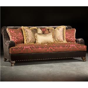 Valentino  Traditional Sofa with Sophisticated Elegance and Ruched Tapered Arms by Paul Robert