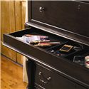 Universal Home Tall Chest with 7 Drawers and Semi-Hidden Jewelry Tray Drawer - Detail of jewelry drawer