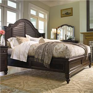 Universal Home Queen Steel Magnolia Bed