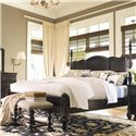 Paula Deen by Universal Paula Deen Home California King Savannah Poster Bed with 3 Post Options  - Shown with low headboard posts only