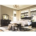 Paula Deen by Universal Paula Deen Home California King Savannah Poster Bed with 3 Post Options  - Shown with nightstand and bed end bench