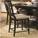 Paula Deen by Universal Paula Deen Home Counter Height Chair with Upholstered Seat