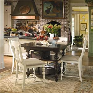 Universal Home Gathering Table Set w/ 4 Counter Chairs