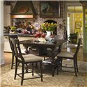 Universal Home Counter Height Kitchen Gathering Table with Storage Baskets - Shown as part of pub table set