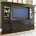 Universal Home 66-inch Entertainment Console with 6 Drawers - Shown as part of Entertainment Wall Unit
