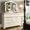Paula Deen by Universal Paula Deen Home Door Dresser with 9 Drawers - Shown with Decorative Landscape Mirror
