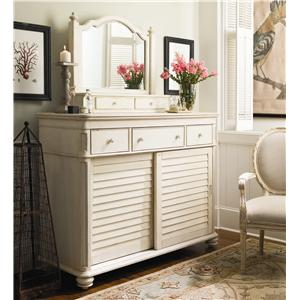Morris Home Furnishings Pinehurst The Lady's Dresser & Storage Mirror