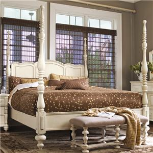 Morris Home Furnishings Pinehurst Queen Savannah Poster Bed