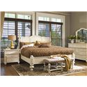 Paula Deen by Universal Paula Deen Home Queen Savannah Poster Bed with 3 Post Options - Shown with low front posts
