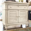 Paula Deen by Universal Paula Deen Home Louvered Door Nightstand with Pull-Out Shelf