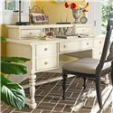 Paula Deen by Universal Paula Deen Home Letter Writing Desk with Letter Deck, File Drawers, and Center Drop Front Drawer