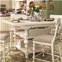 Morris Home Pinehurst Kitchen Gathering Table - Item Number: 996652-BASE+TAB
