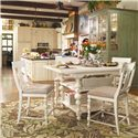 Paula Deen by Universal Paula Deen Home Counter Height Kitchen Gathering Table with Storage Baskets - Shown as part of table set