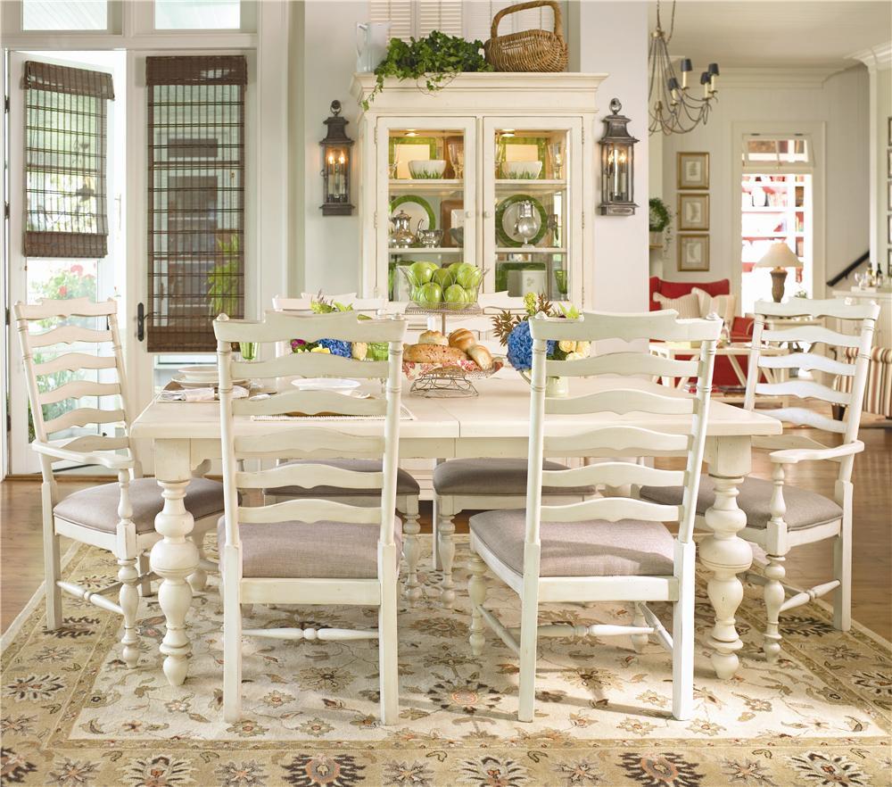 Paula Deen by Universal Paula Deen Home Paula's Table w/ Ladder Arm & Side Chairs - Item Number: 996653+2x996635+4x996634
