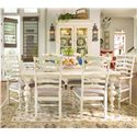 Universal Home Paula's Table w/ Ladder Arm & Side Chairs - Item Number: 996653+2x996635+4x996634
