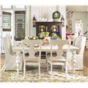 Paula Deen by Universal Paula Deen Home Paula's Table w/ 2 Wing Side Chairs & 4 Back Splat Side Chairs