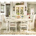 Paula Deen by Universal Paula Deen Home Paula's Rectangular Leg Table - Shown as part of table set