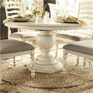 Morris Home Furnishings Pinehurst Round Pedestal Table