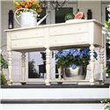 Paula Deen by Universal Paula Deen Home Console Server with Shelf and Four Drawers