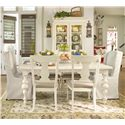 Paula Deen by Universal Paula Deen Home Buffet & Hutch China Cabinet - Shown with table set