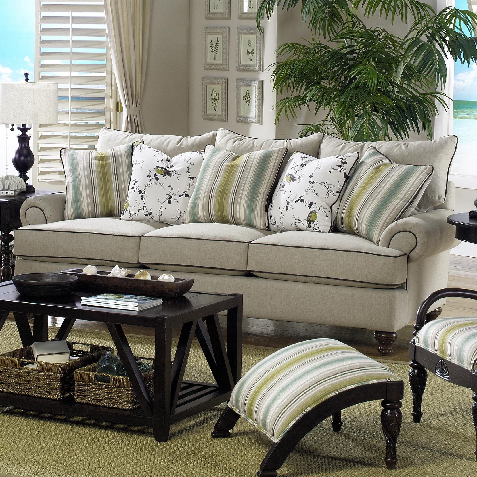 Paula Deen By Craftmaster P711700 Traditional Stationary Sofa   Item  Number: P711750BD