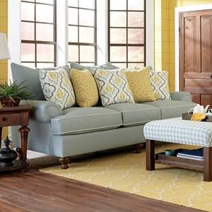 Paula Deen By Craftmaster P711700 Traditional Stationary Sofa