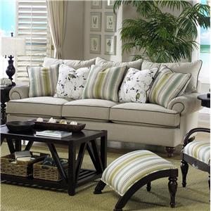 Paula Deen by Craftmaster P711700 Traditional Stationary Sofa
