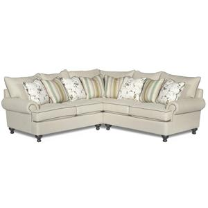 Paula Deen by Craftmaster P711700 2-Piece Sectional Sofa
