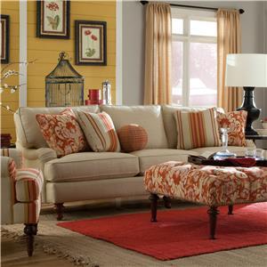 Living Room. Paula Deen By Craftmaster P734300 Sofa