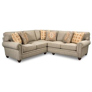 Paula Deen by Craftmaster P7552 2 Pc Sectional Sofa