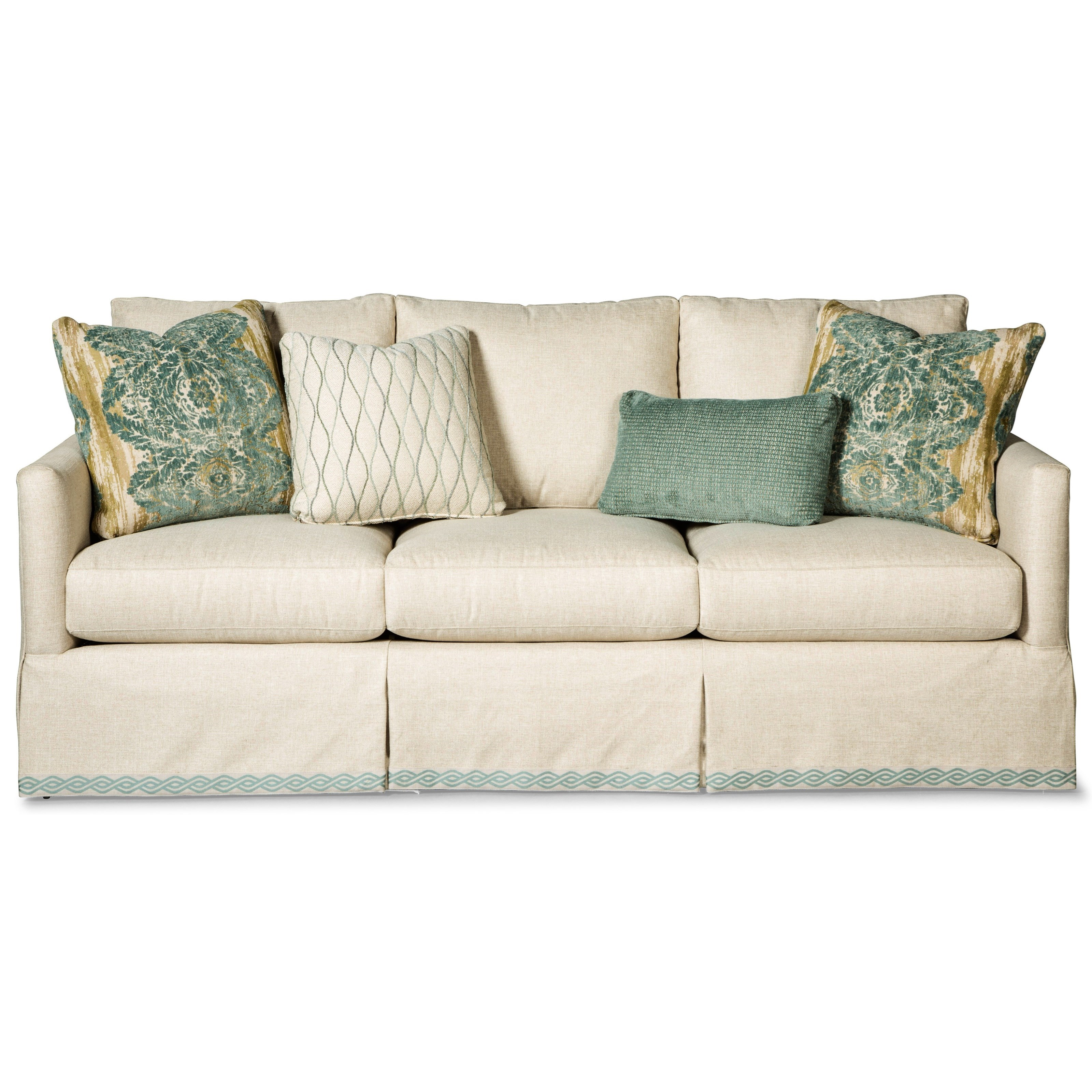 Skirted Sofa With Ribbon Trim